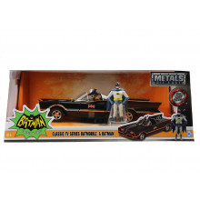 1:24 1966 CLASSIC TV SERIES BATMOBILE W/ BATMAN FIGURE MOVIE