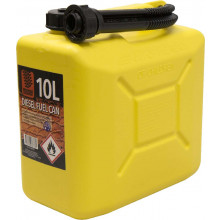 FUEL CAN 10L YELLOW PLASTIC RCP10Y