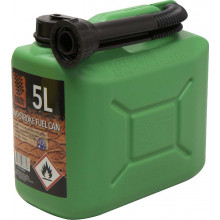 FUEL CAN 5L GREEN PLASTIC
