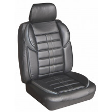 Altitude Leather Look Seat Covers Black/Charcoal