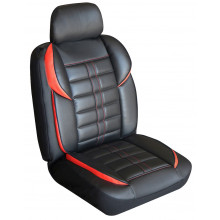 Altitude Leather Look Seat Covers Black/Red
