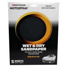 Motospray Wet & Dry Sandpaper - 320 Grit - 5 Pack