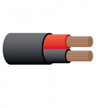 CABLE TWIN SHEATH 5MM 25A RED BLK (1 METRE)