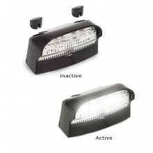 LED LICENCE PLATE LAMP BLACK HOUSING