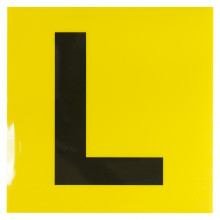 ELECTROSTATIC L PLATES YELLOW/BLACK