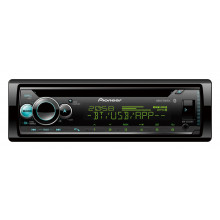 1 DIN CD REC DUAL BT VAR CLR SPOTIFY SMART SYNC 200W