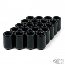 WHEEL NUT INTERNAL HEX 12 X 1.50 BLACK CHROME