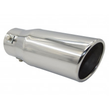 EXHAUST TIP ANGLE ROLLED CUT 40-52MM