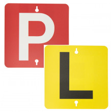 SUCTION L & P PLATES YELLOW/BLACK & RED/WHITE