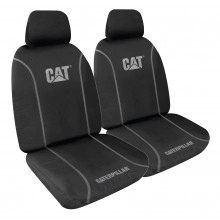 CAT FX CHECKERPLATE SEAT COVERS BLACK 30