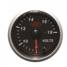 SASS Volt Gauge 8V-18V 52mm Black Street Series