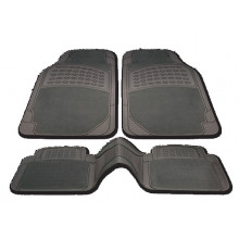 Streetwize Floor Mats Miami Set 2 Rear Black Carpet/Rubber