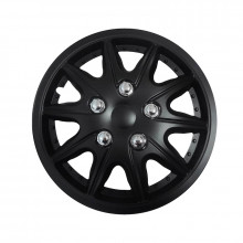 "Streetwize Wheel Covers Matte Black 14"" Rome"